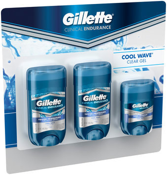 Clinical Strength Gillette Clinical Strength Cool Wave Clear Gel 1.6 oz Twin Pack With Trial Size .5 oz Clinical Clear Gel