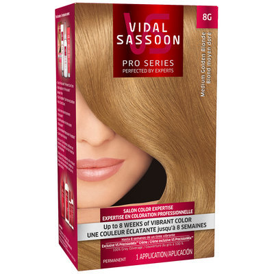 Vidal Sassoon Pro Series 8G Medium Golden Blonde Hair Color Kit