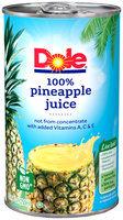 Dole® 100% Pineapple Juice 6 fl. oz. Can