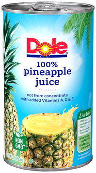 Dole® 100% Pineapple Juice 6 fl. oz. Can