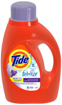 Tide with Febreze Freshness Spring & Renewal Scent Liquid Laundry Detergent 1.18 L Bottle