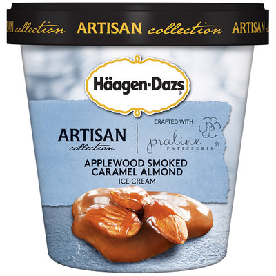 Häagen-Dazs Applewood Smoked Caramel Almond Ice Cream 14 fl. oz. Cup
