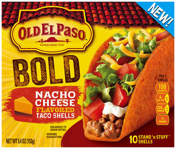 Old El Paso® Stand 'n Stuff Nacho Cheese Flavored Taco Shells