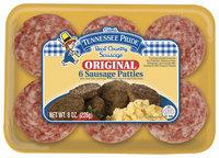 Tennessee Pride Original 6 Ct Sausage Patties 8 Oz Tray