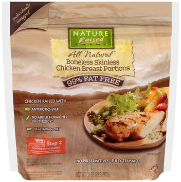 NatureRaised Farms® Boneless Skinless Chicken Breast Portions 32 oz. Bag