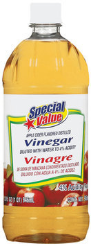 Special Value Apple Cider Flavored Distilled  Vinegar  32 Fl Oz Bottle