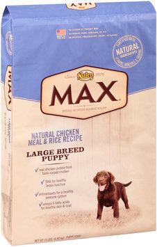 Nutro® Max® Large Breed Puppy Natural Chicken Meal & Rice Recipe Dog Food 15 lb. Bag