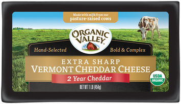 Organic Valley® Extra Sharp Vermont Cheddar Cheese 1 lb. Brick