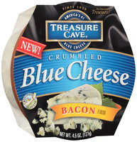 Treasure Cave® Bacon Flavor Crumbled Blue Cheese 4.5 oz. Tub