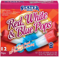 Stater Bros. Red White & Blue 12 Ct Ice Pops 21 Oz Box