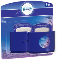 Febreze Sleep Serenity Bedside Diffuser Moonlit Lavender Air Freshener Value Pack 2-0.18 fl. oz. Carded Pack