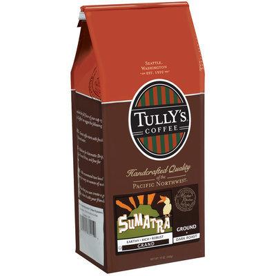 Tully's Coffee Grand Ground Dark Roast Sumatra 12 Oz Stand Up Bag
