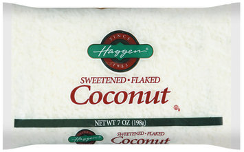 Haggen Sweetened Flaked Coconut 7 Oz Bag