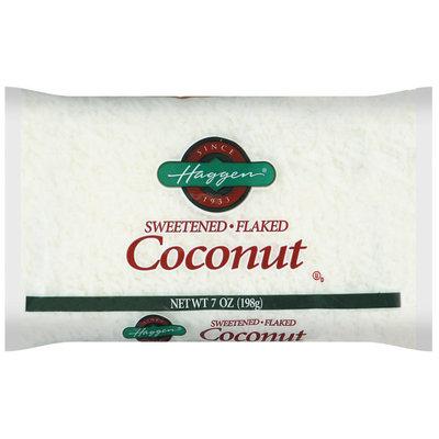 Haggen Sweetened Flaked Coconut 7 Oz Bag