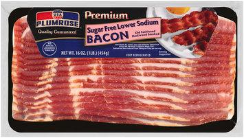 Plumrose® Premium Hardwood Smoked Sugar Free Lower Sodium Bacon