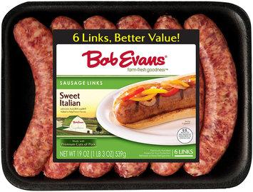 Bob Evans® Sweet Italian Sausage Links 6 ct 19 oz Tray