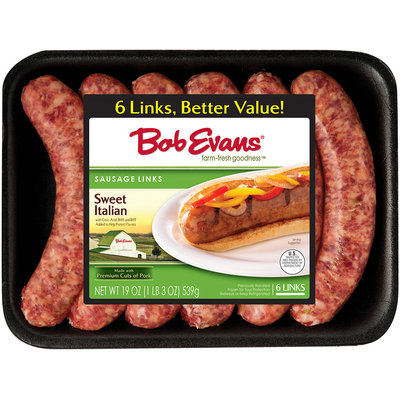 Bob Evans® Sweet Italian Sausage Links 6 ct 19 oz Tray
