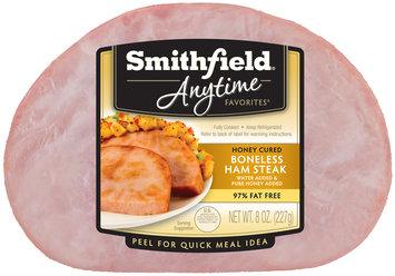 Smithfield® Anytime Favorites™ Honey Cured Boneless Ham Steak 8 oz. Pack