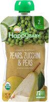 Happy Baby® Organics Pears, Zucchini & Peas 4 oz. Pouch
