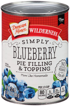 Duncan Hines® Wilderness® Simply Blueberry Pie Filling & Topping 21 oz. Can
