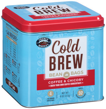 French Market® Cold Brew Coffee & Chicory Bean Bags 4-2 oz. Bags