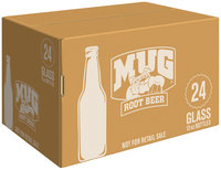 Mug Root Beer Soda 12 Fl Oz 24 Pack