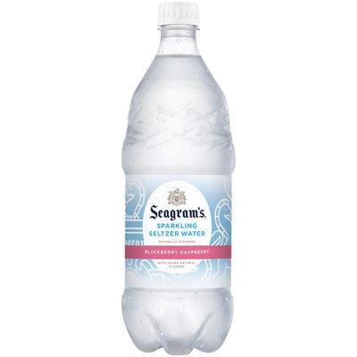 Seagram's Blackberry Raspberry Sparkling Seltzer Water 1L Plastic Bottle