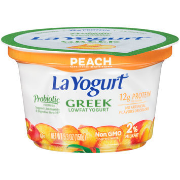 La Yogurt® Probiotic Peach Lowfat Yogurt 5.3 oz. Cup