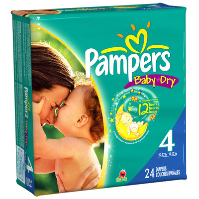 Pampers Baby Dry Size 4 Convenience Pack Diapers 24 ct Bag