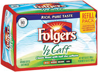Folgers 1/2 Caff Medium Refill Pack Ground Coffee 10.8 Oz Brick