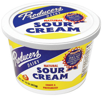 Producers Natural Sour Cream 1 Lb Tub
