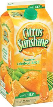 Citrus Sunshine® Premium Orange Juice from Concentrate with Pulp 59 fl. oz. Carton