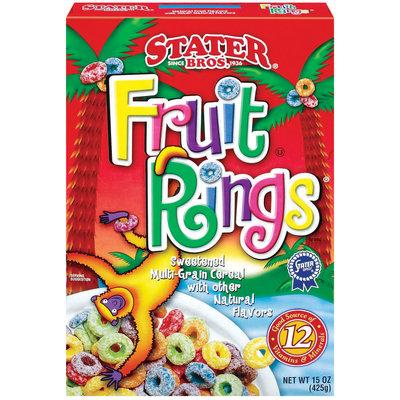 Stater Bros. Sweetened Multi-Grain Cereal Fruit Rings 15 Oz Box