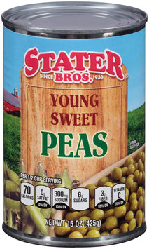 Stater Bros.® Young Sweet Peas 15 oz. Can
