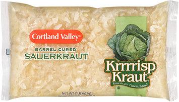 Cortland Valley® Krrrrisp Kraut® Barrel Cured Sauerkraut 32 oz. Bag