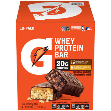 Gatorade® Whey Protein Bar Variety Pack 18-2.8 oz. Bars