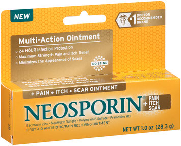 Neosporin® + Pain Itch Scar Multi-Action Ointment 1.0 oz. Box