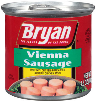 Bryan® Vienna Sausage 4.6 oz. Pull-Top Can.