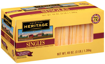 American Heritage® Imitation Pasteurized Prepared Cheese Singles 72-0.667 oz. Pack