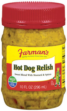 Farman's Sweet Blend W/Mustard & Spices Relish Hot Dog 10 Fl Oz Plastic Jar