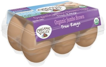 Organic Valley® Organic Jumbo Brown Eggs 6 ct Carton