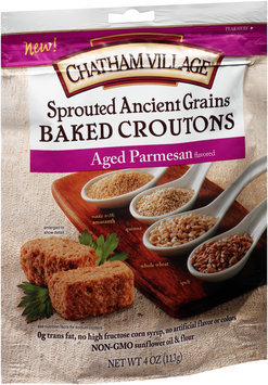 Chatham Village® Sprouted Ancient Grains Aged Parmesan Baked Croutons 4 oz.
