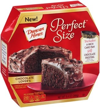 Duncan Hines® Perfect Size™ Chocolate Lover's Chocolate Cake & Frosting Mix 9.4 oz. Box