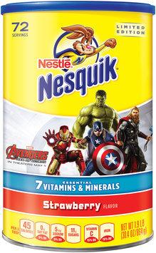 Nestlé® NESQUIK® Strawberry Flavored Powder 1.9 lb. Canister