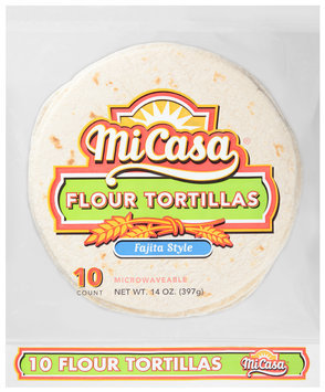 Mi Casa® Fajita Style Flour Tortillas 14 oz. Bag