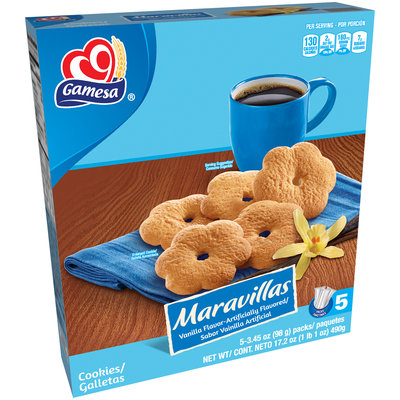 Gamesa® Maravillas Cookies 5-3.45 oz. Packets