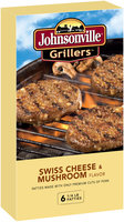 Johnsonville Grillers Mushroom & Swiss Brat Patties  24oz 6ct box (102033)