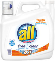 all® free clear OXI Laundry Detergent 79 Loads 141 fl. oz. Bottle