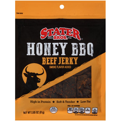 Stater Bros.® Honey BBQ Beef Jerky 2.85 oz.