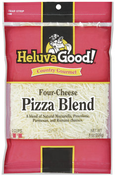 HELUVA GOOD Four-Cheese Pizza Blend Country Gourmet Cheese 8 OZ PEG